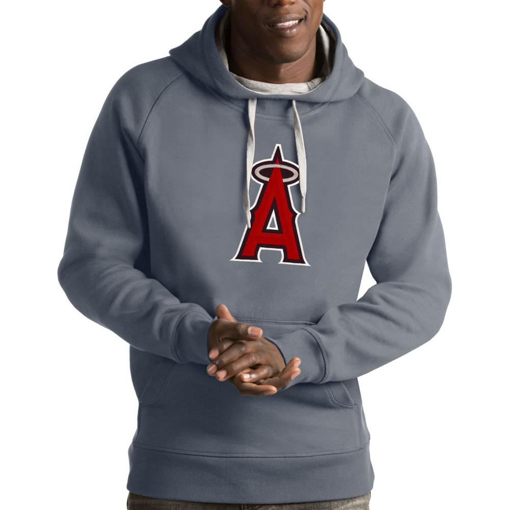 MLB エンゼルス パーカー/フーディー ビクトリー プルオーバー Antigua グレー