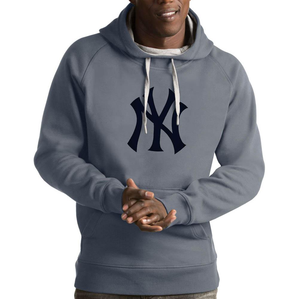 MLB ヤンキース パーカー/フーディー ビクトリー プルオーバー Antigua グレー