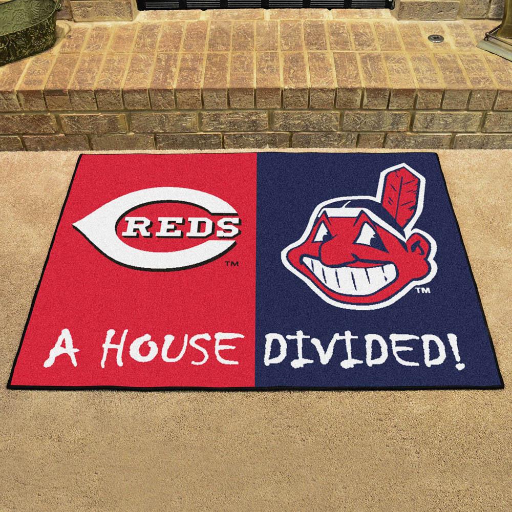 MLB インディアンス ハウス ディバイデッド マット