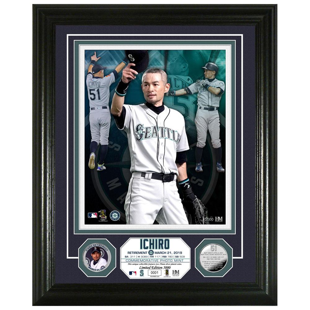 MLB マリナーズ イチロー 引退記念 リタイアメント シルバーコイン フォト The Highland Mint