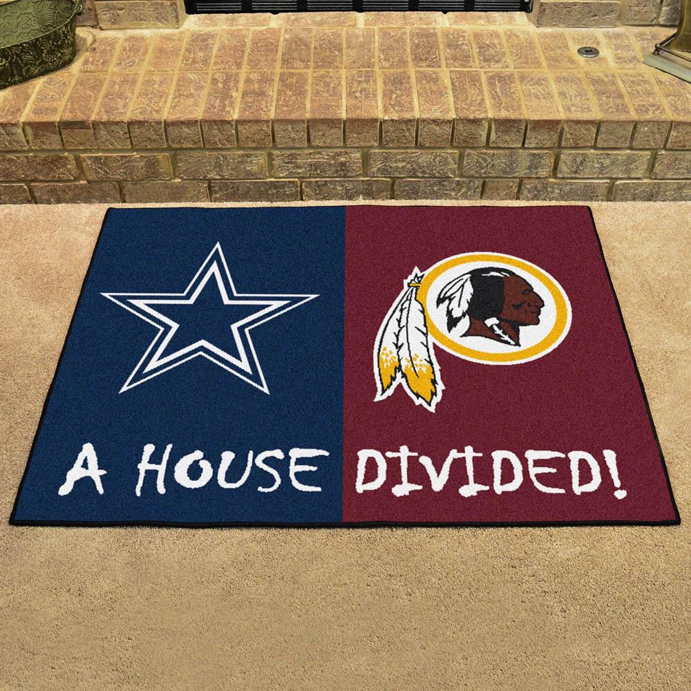 NFL レッドスキンズ ハウス ディバイデッド マット