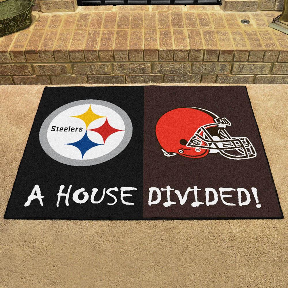 NFL スティーラーズ ハウス ディバイデッド マット