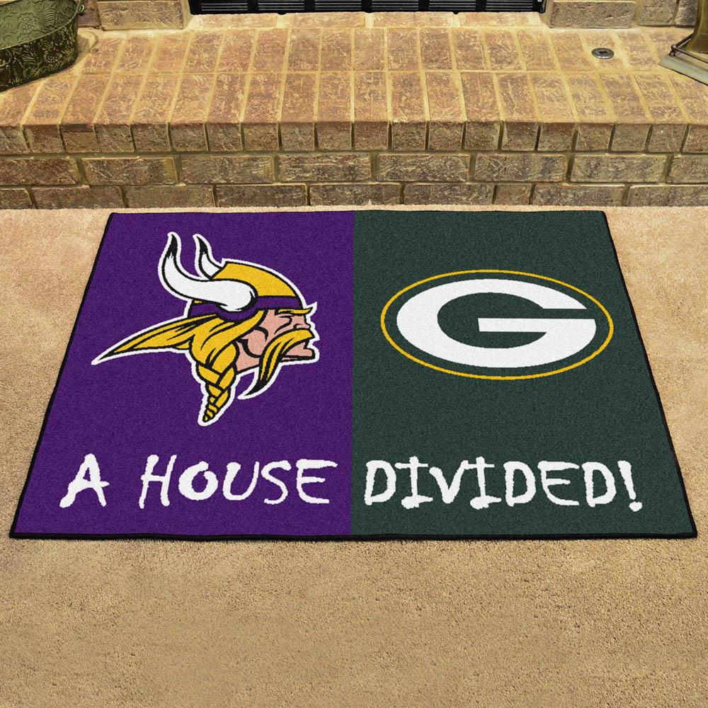 NFL バイキングス ハウス ディバイデッド マット