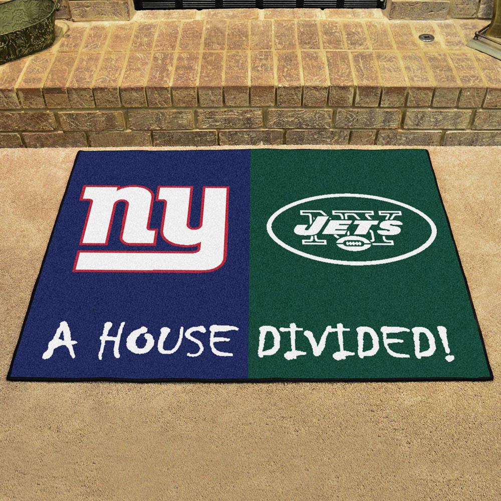 NFL ジェッツ ハウス ディバイデッド マット