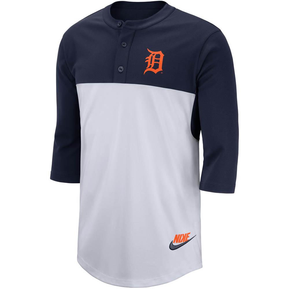 MLB タイガース Tシャツ ヘンリースリークォータースリーブ ナイキ/Nike