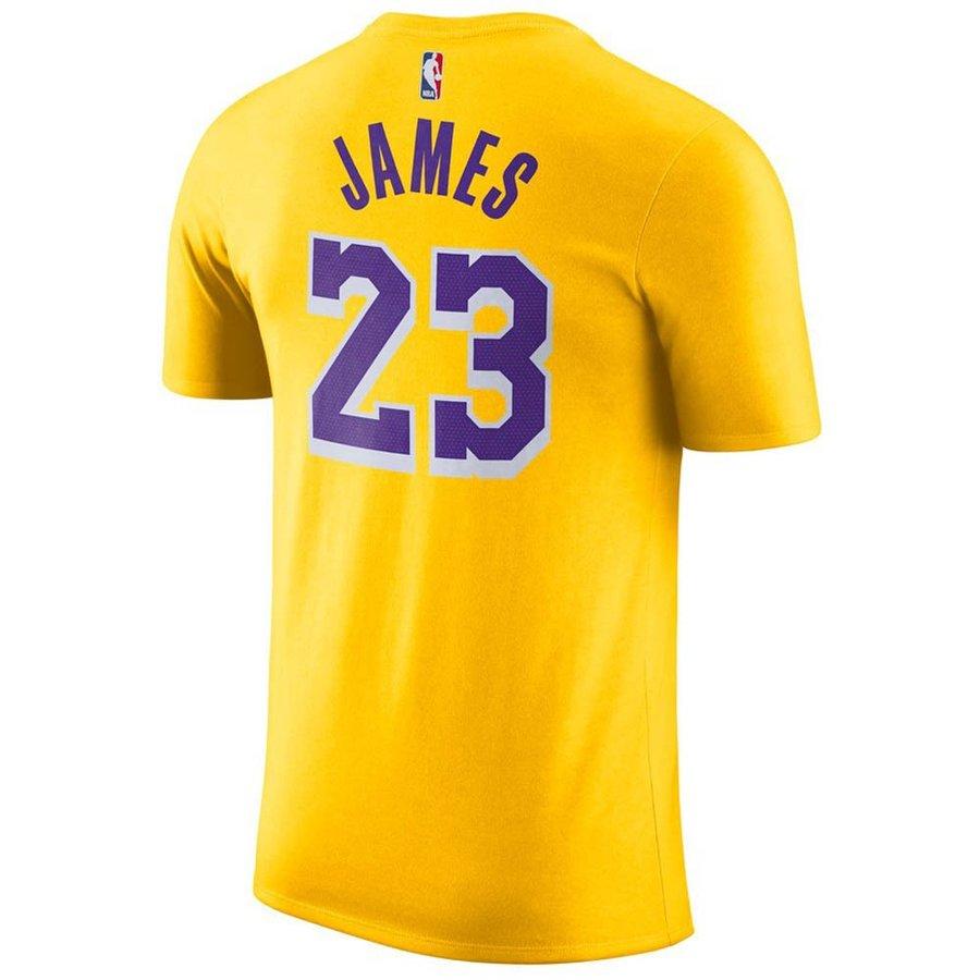 size 40 489b5 509c1 NBA Lakers Revlon James T-shirt name & number Nike /Nike gold