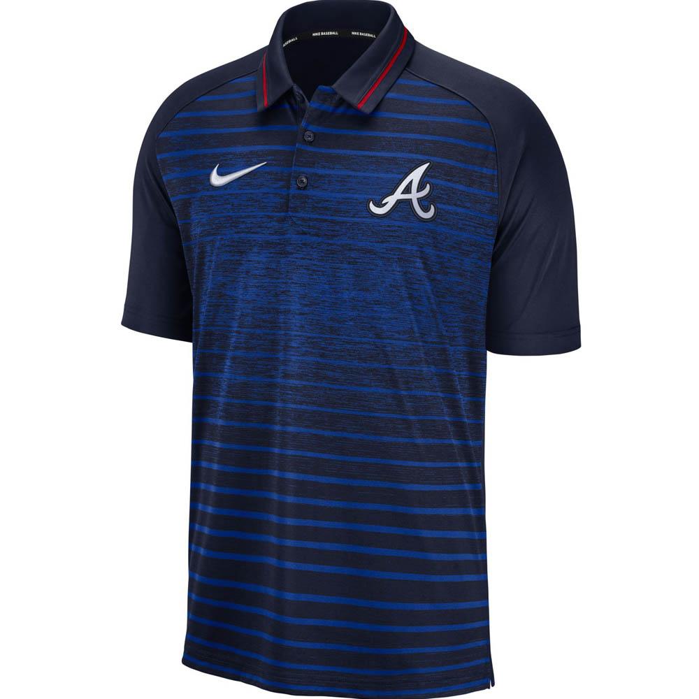 お取り寄せ MLB ブレーブス ストライプド ポロシャツ ナイキ/Nike