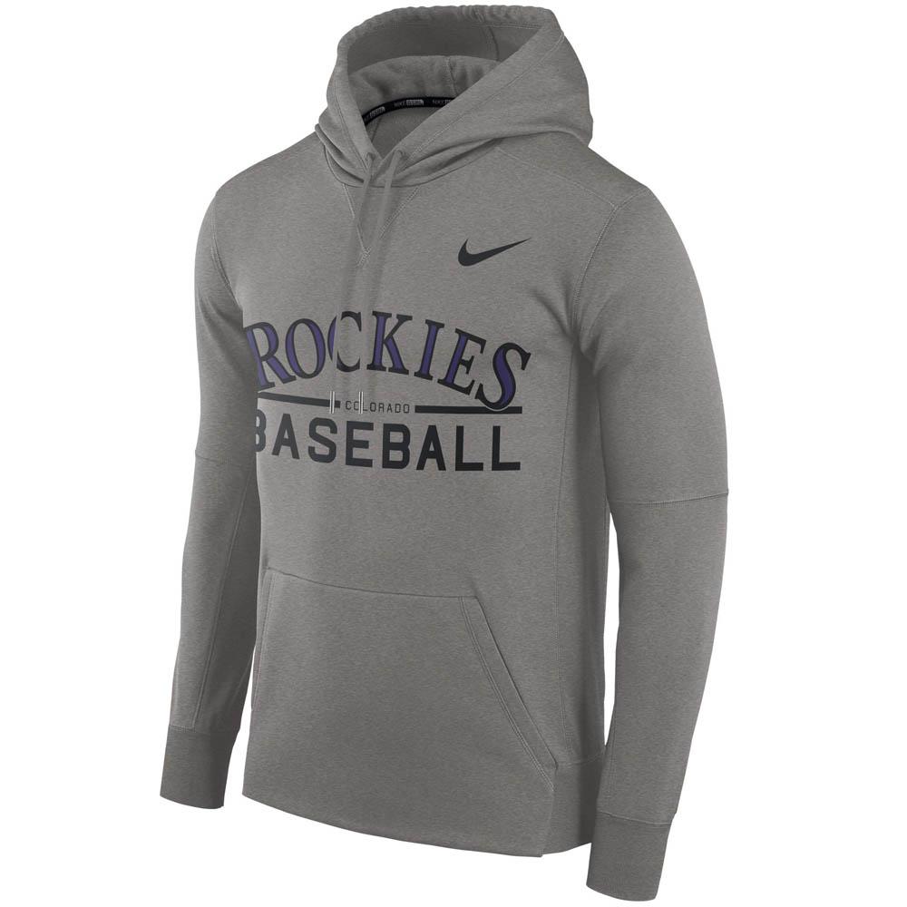 お取り寄せ MLB ロッキーズ パーカー/フーディー ドライフィット サーマ プルオーバー ナイキ/Nike グレー