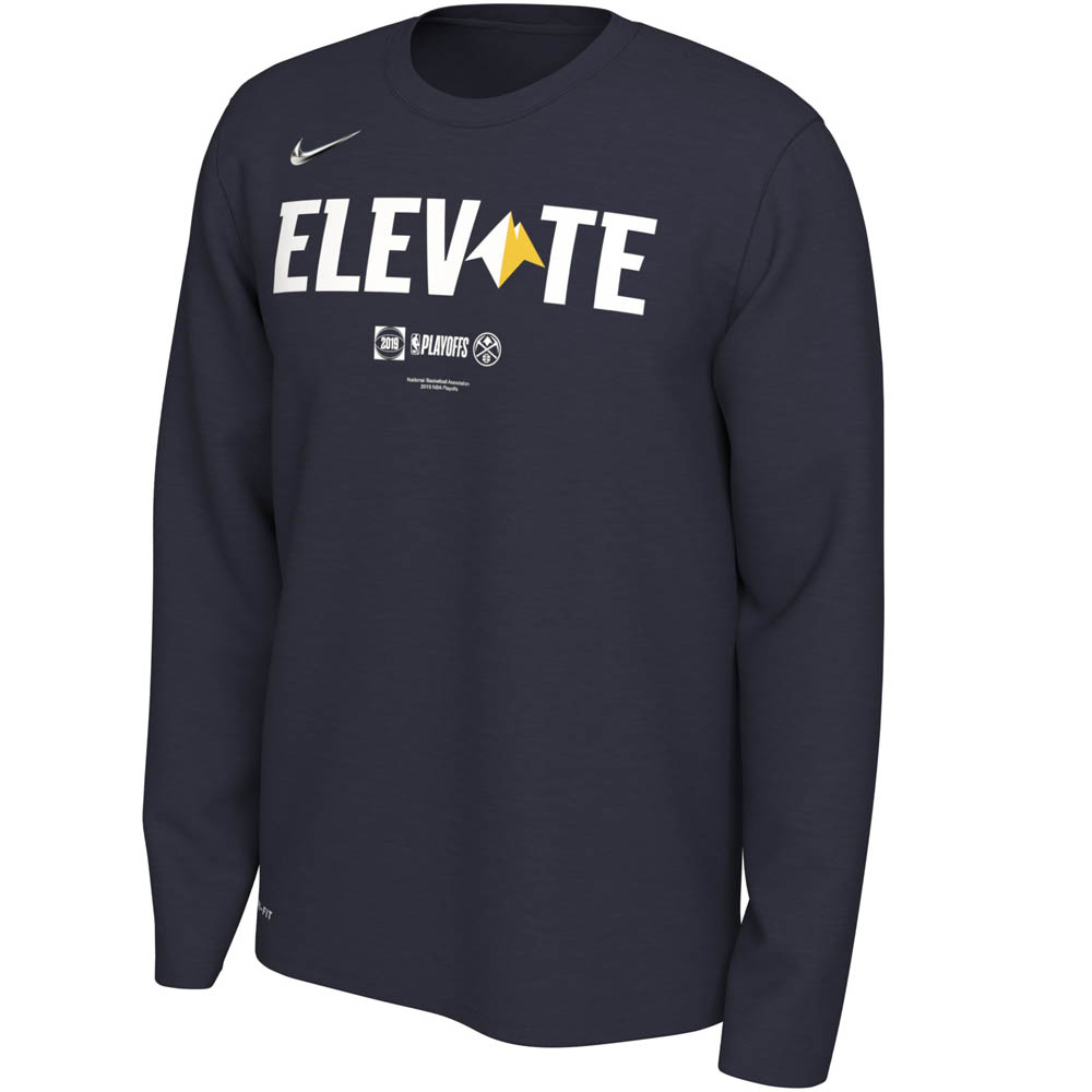 お取り寄せ NBA ナゲッツ Tシャツ 2019 プレーオフ エレベイト ロングスリーブ ナイキ/Nike