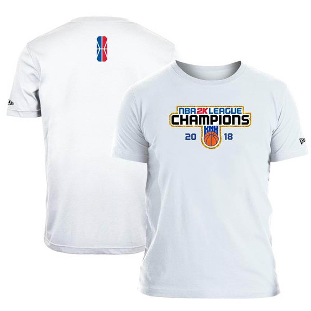 NBA T-shirt 2k league finals new gills /New Era white