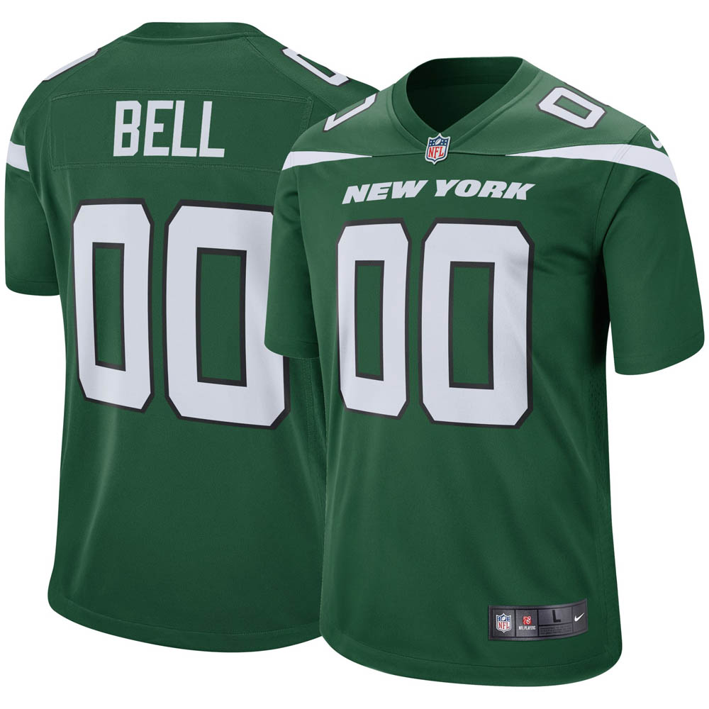 free shipping 51ef7 0b6e8 NFL Jets Lewi on bell uniform / jersey game Nike /Nike home