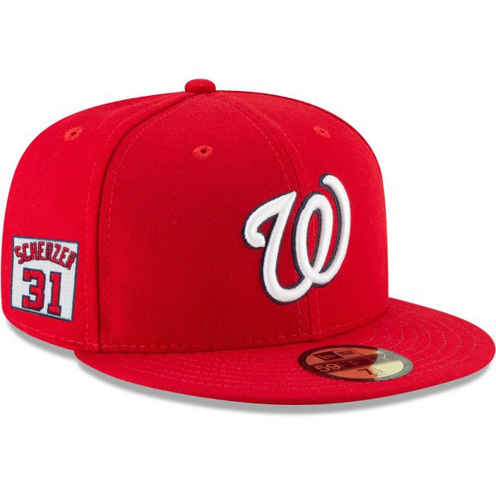 MLB ナショナルズ マックス・シャーザー キャップ/帽子 プレイヤー ナンバーパッチ ニューエラ/New Era レッド