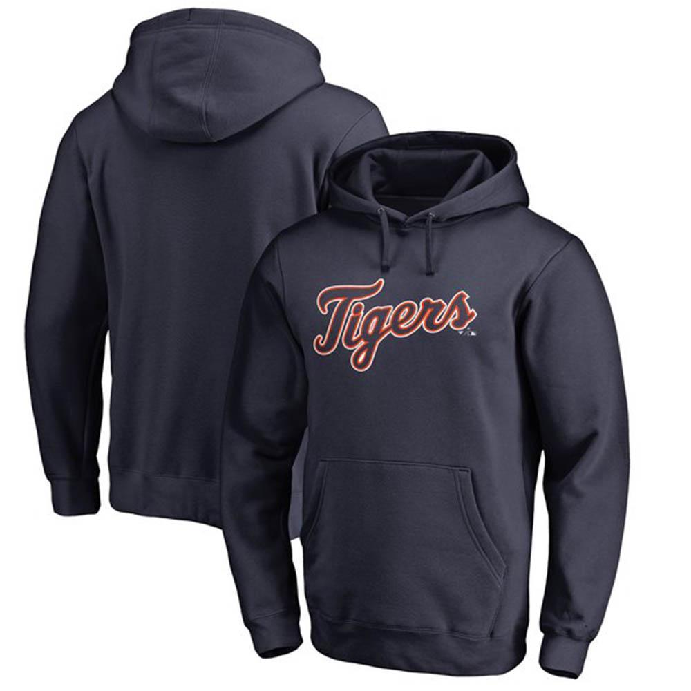 お取り寄せ MLB タイガース パーカー/フーディー チーム ワードマーク プルオーバー ネイビー