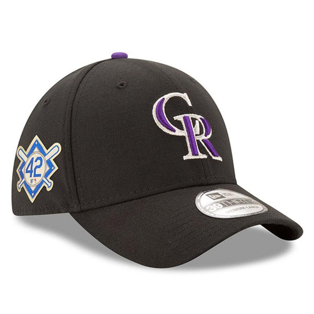 ロッキーズ キャップ ニューエラ NEW ERA MLB ジャッキー ロビンソン デー フレックス ブラック【1910価格変更】【191028変更】