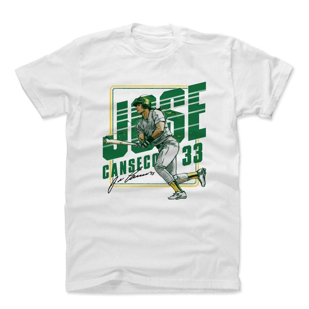 MLB Tシャツ アスレチックス ホセ・カンセコ Player Art Cotton T-Shirt 500Level ホワイト【1910価格変更】【1112LV】