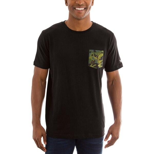 MLB ブレーブス Tシャツ Armed Special Forces カモ ポケット ニューエラ/New Era ブラック【1910価格変更】【1112】