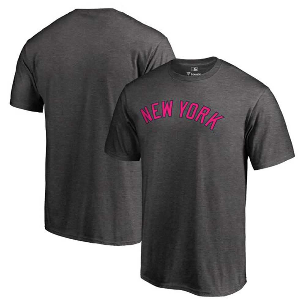 MLB ヤンキース Tシャツ 2019 マザーズデー 母の日 ピンク ワードマーク グレー【1910価格変更】【1112】