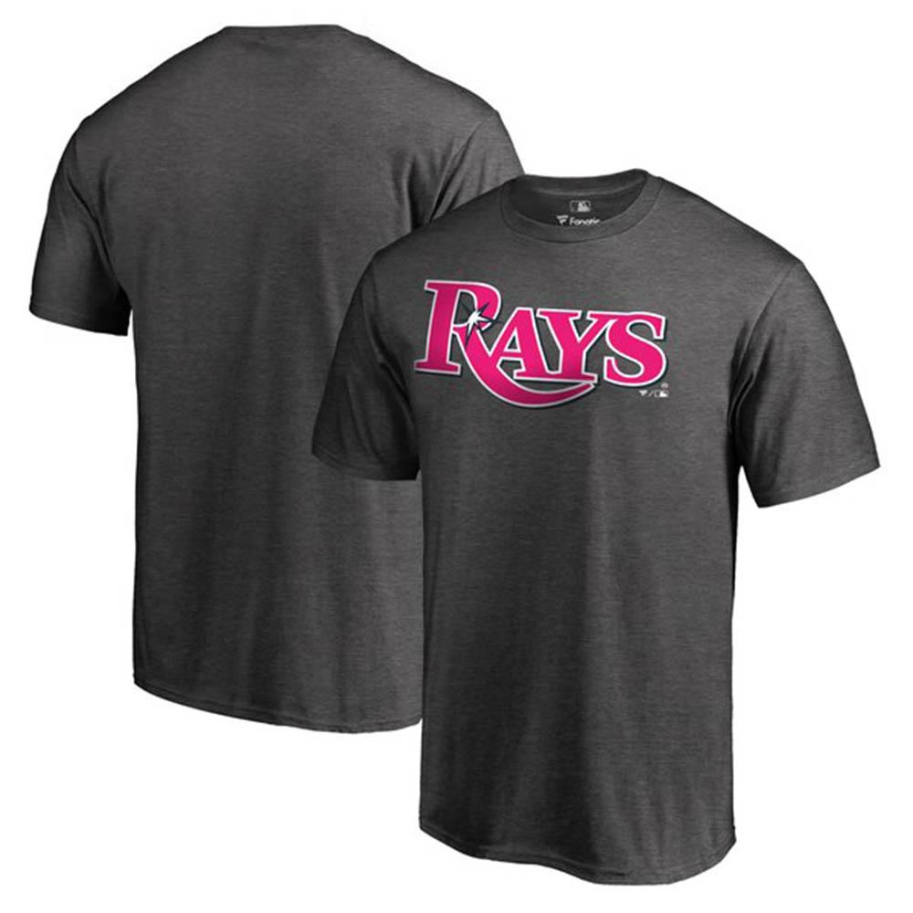 筒香選手所属 MLB レイズ Tシャツ 2019 マザーズデー 母の日 ピンク ワードマーク グレー【1910価格変更】【1112】