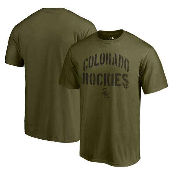MLB ロッキーズ Tシャツ 2019 カモ コレクション ジャングル グリーン【1910価格変更】【1112】