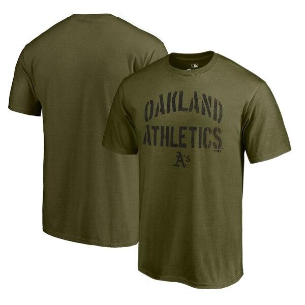MLB アスレチックス Tシャツ 2019 カモ コレクション ジャングル グリーン【1910価格変更】【1112】