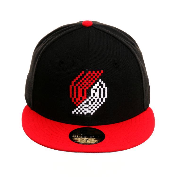 NBA トレイルブレイザーズ Era キャップ/帽子 エクスクルーシブ 59Fifty ピクセル ハット 59Fifty ニューエラ ニューエラ/New/New Era ブラック/レッド, こだわり寝具工場:0344695d --- wap.acessoverde.com