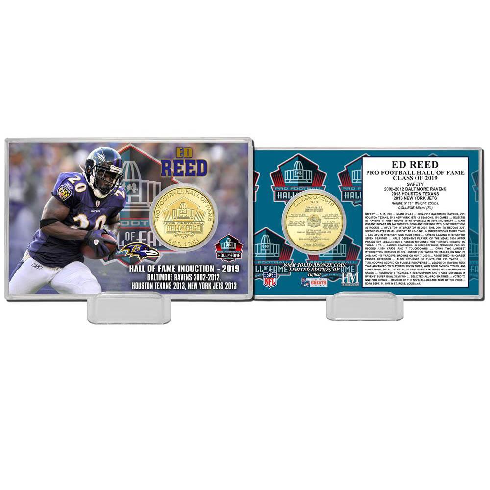 NFL エド・リード ホール オブ フェイム 2019 ブロンズ コイン カード The Highland Mint【1910価格変更】