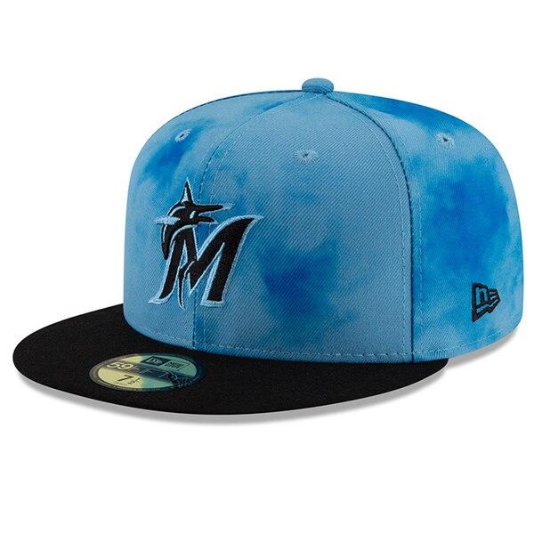 MLB マーリンズ キャップ/帽子 2019 ファーザーズデー オンフィールド 父の日 ニューエラ/New Era ブラック