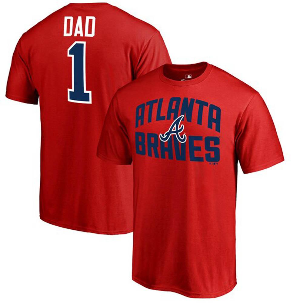 MLB ブレーブス Tシャツ 2019 ファーザーズデー ナンバー1 ダッド レッド【1910価格変更】【1112】