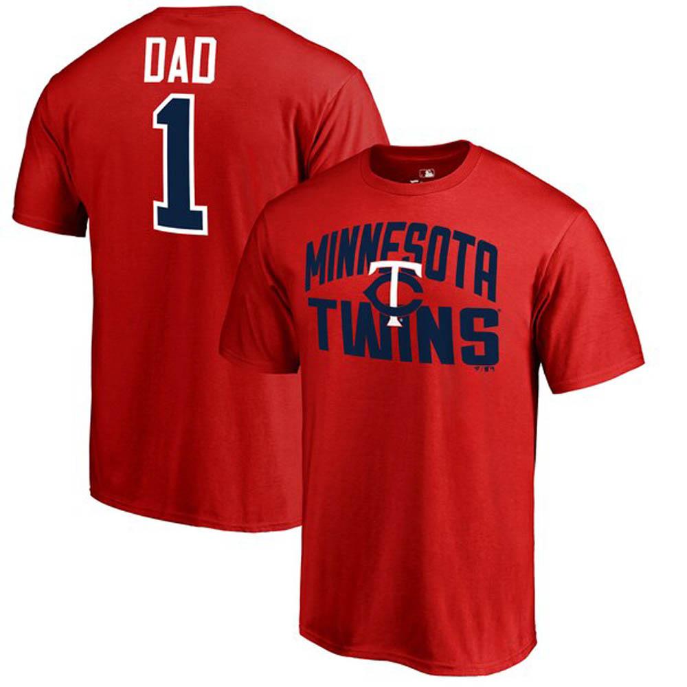 MLB ツインズ Tシャツ 2019 ファーザーズデー ナンバー1 ダッド レッド【1910価格変更】【1112】