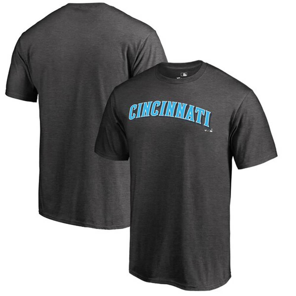 MLB レッズ Tシャツ 2019 ファーザーズデー ブルー ワードマーク グレー【1910価格変更】【1112】