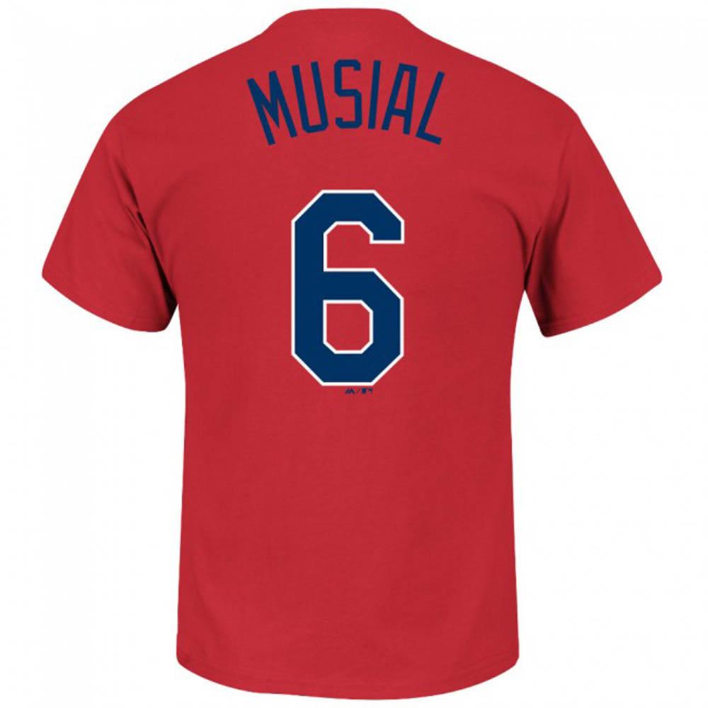 MLB カージナルス スタン・ミュージアル Tシャツ ネーム&ナンバー マジェスティック/Majestic レッド【1910価格変更】【1112】