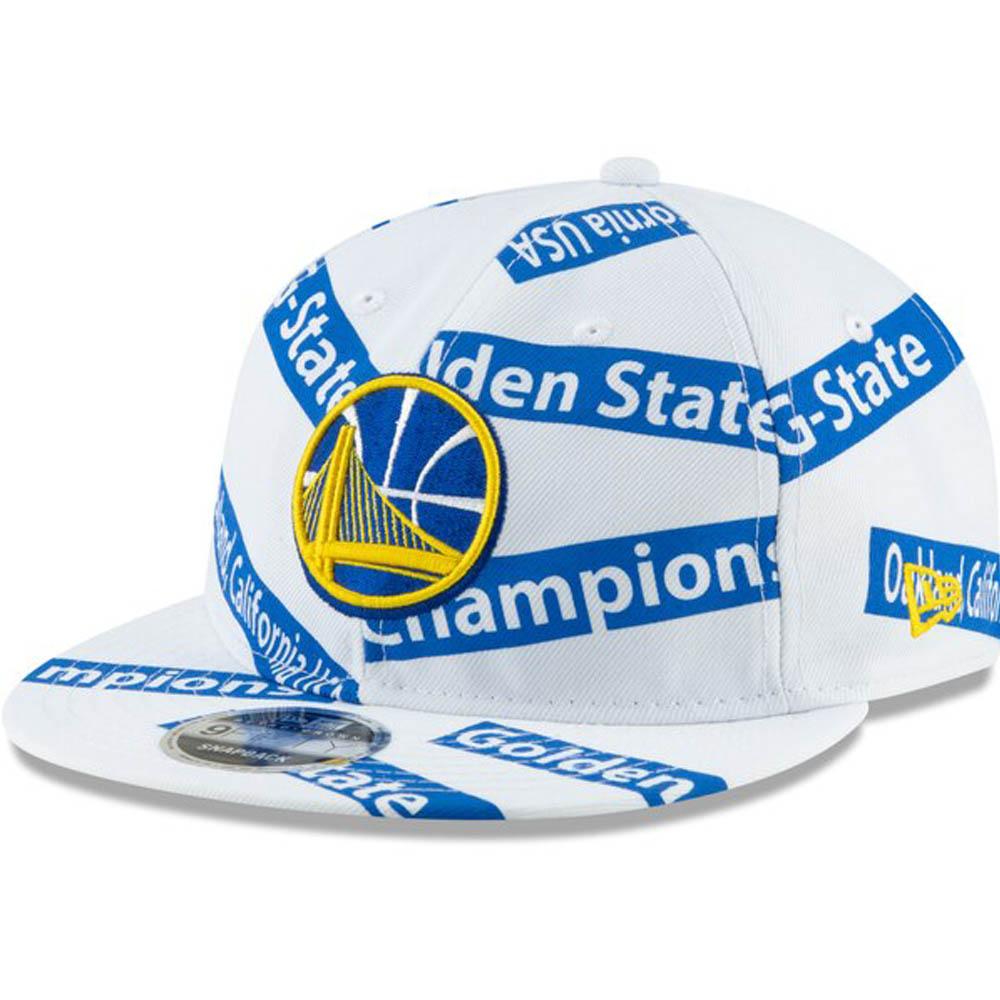 NBA ウォリアーズ キャップ/帽子 チーム テープ レトロ クラウン 9FIFTY ニューエラ/New Era ホワイト【1910価格変更】【191028変更】