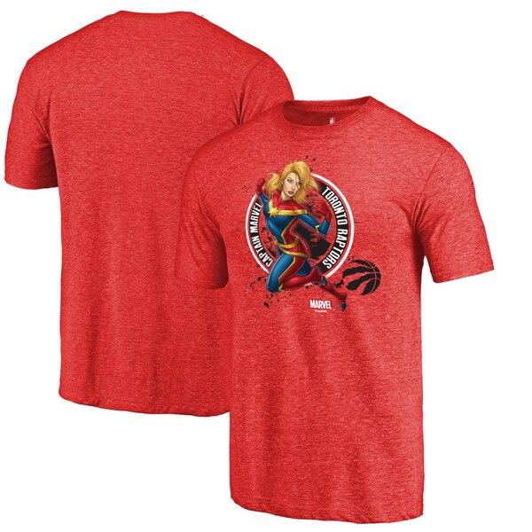 NBA Tシャツ ラプターズ キャプテン マーベル シール  レッド【1910価格変更】【1911NBAt】