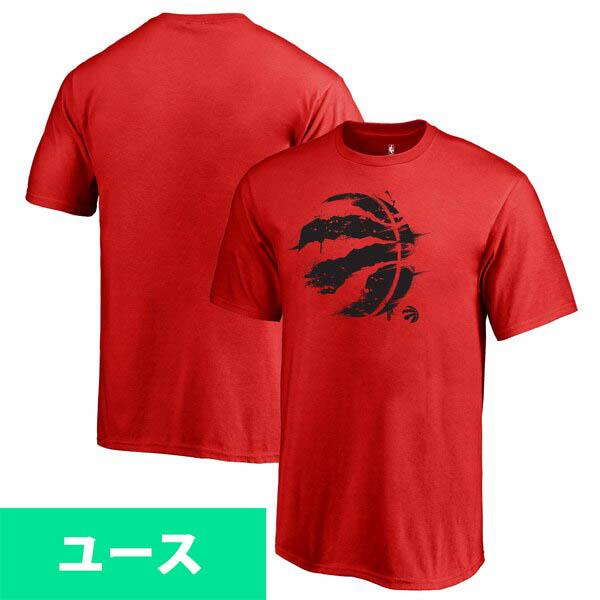 NBA Tシャツ ラプターズ ユース スプラッター ロゴ レッド【1910価格変更】【1911NBAt】