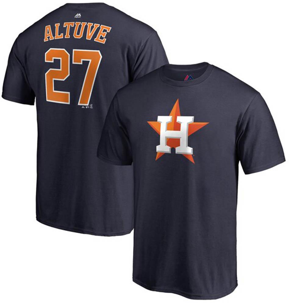 MLB アストロズ ホセ・アルテューベ Tシャツ ダブルプレー ネーム&ナンバー マジェスティック/Majestic ネイビー