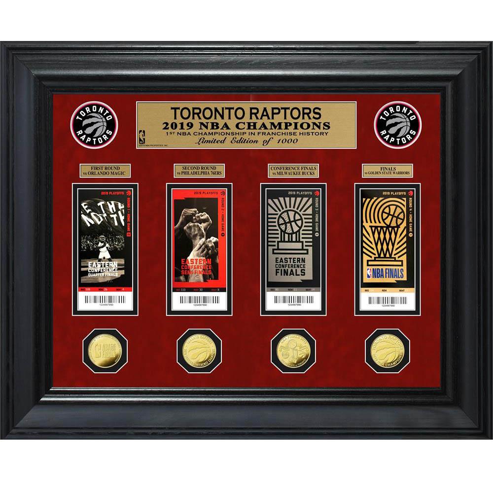 NBA ラプターズ 2019 NBA ファイナル 優勝記念 デラックス コイン & チケット コレクション The Highland Mint ゴールド