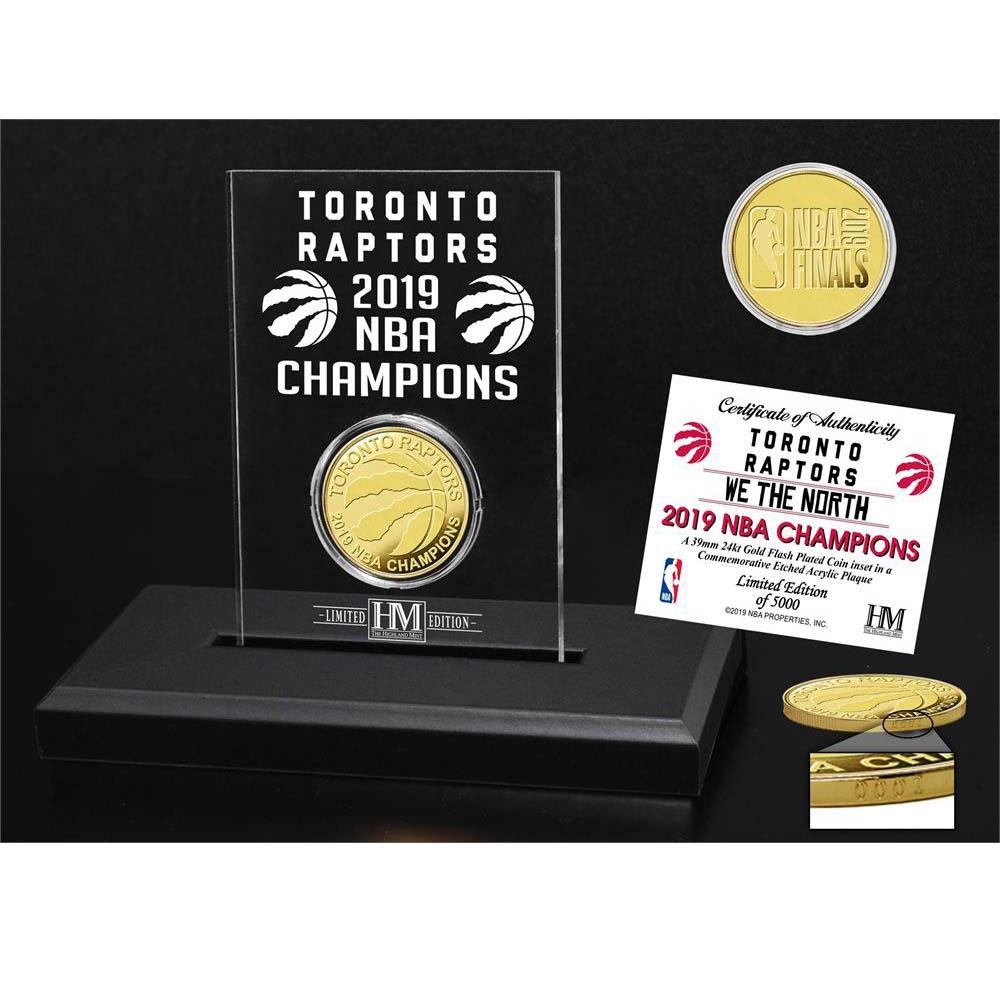 NBA ラプターズ 2019 NBA ファイナル 優勝記念 ゴールド コイン エッジド アクリック The Highland Mint ゴールド