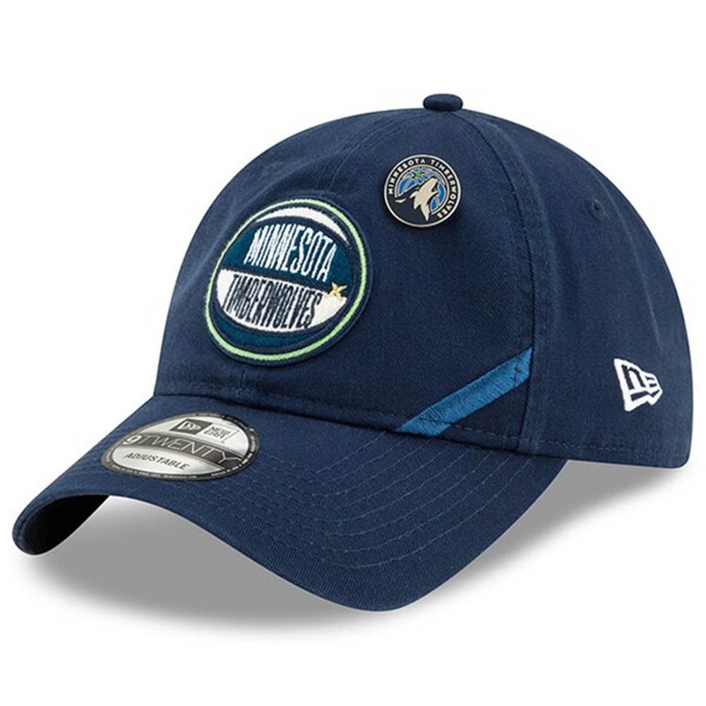 NBA ティンバーウルブズ キャップ/帽子 2019 NBA ドラフト アジャスタブル ニューエラ/New Era ネイビー【1910価格変更】【191028変更】