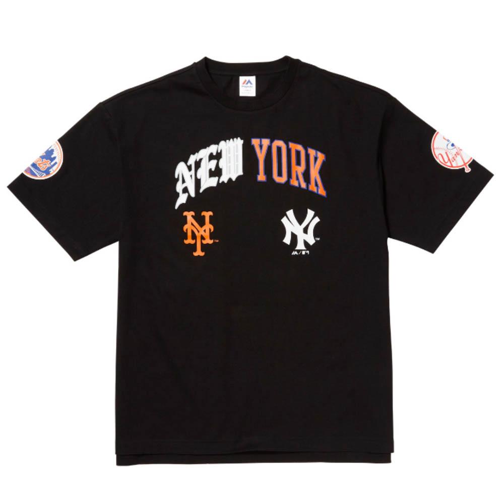 MLB ヤンキース Tシャツ マジェスティック/Majestic ブラック【1910価格変更】【1112】