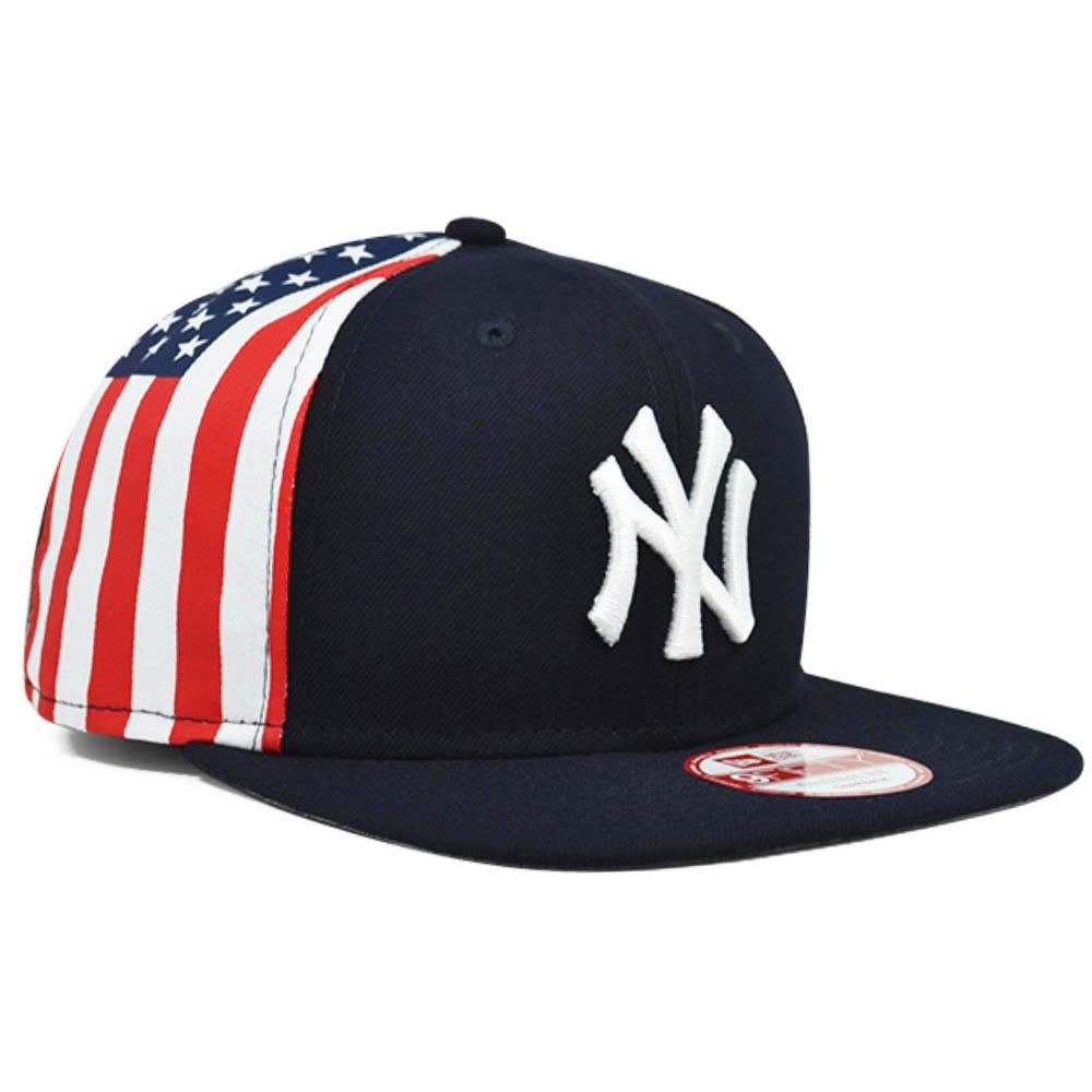 ヤンキース キャップ ニューエラ NEW ERA MLB フラッグアメリカ ネイビー
