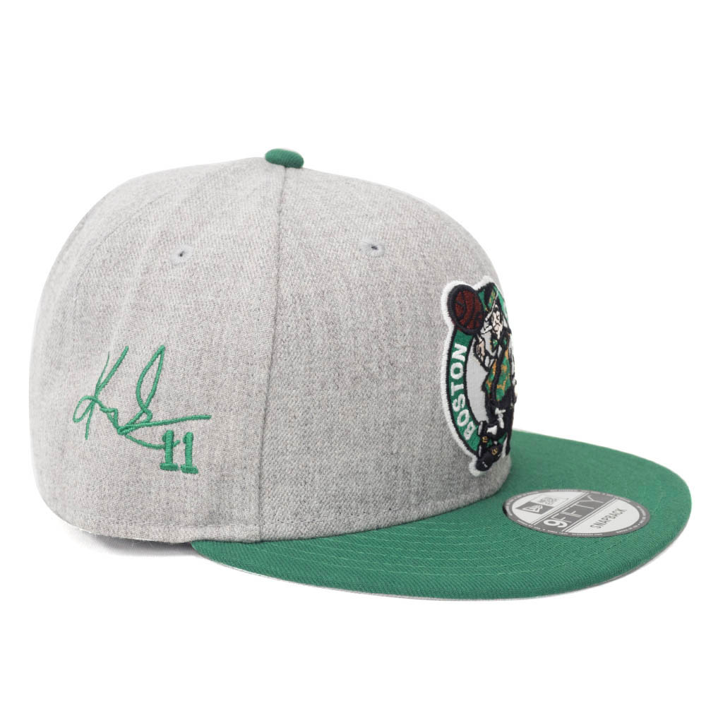 NBA カイリー アービング セルティックス キャップ/帽子 サイン刺繍入り チームロゴ ニューエラ/New Era グレー