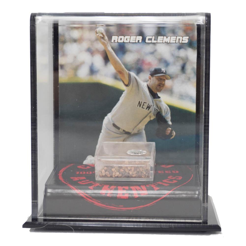 MLB ロジャー・クレメンス ヤンキース 2007 ゲーム ユーズド メモラビリア ディスプレイ Mounted Memories Dirt