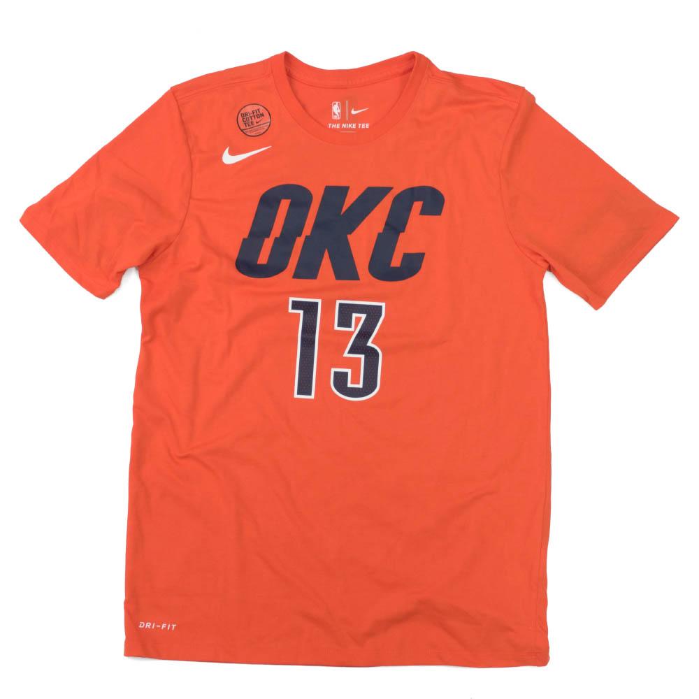 NBA ポール・ジョージ サンダー Tシャツ ネーム&ナンバー パフォーマンス ナイキ/Nike オレンジ