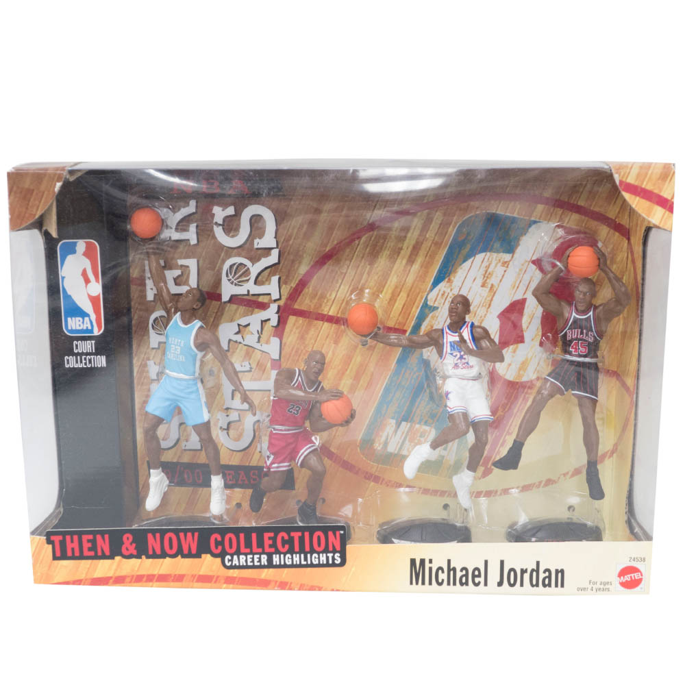 NBA マイケル・ジョーダン ブルズ フィギュア 1999 Mattel NBA Super Stars Then & Now Collection Mattel