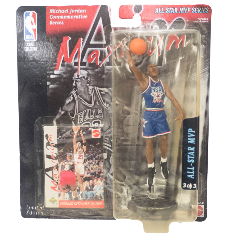 NBA マイケル・ジョーダン ブルズ フィギュア Super Stars Air Maximum Action Figure All-Star MVP Upper Deck