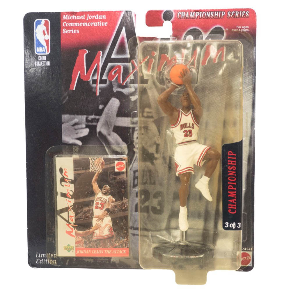 NBA マイケル・ジョーダン ブルズ フィギュア Super Stars Air Maximum Action Figure 93 Champion Upper Deck