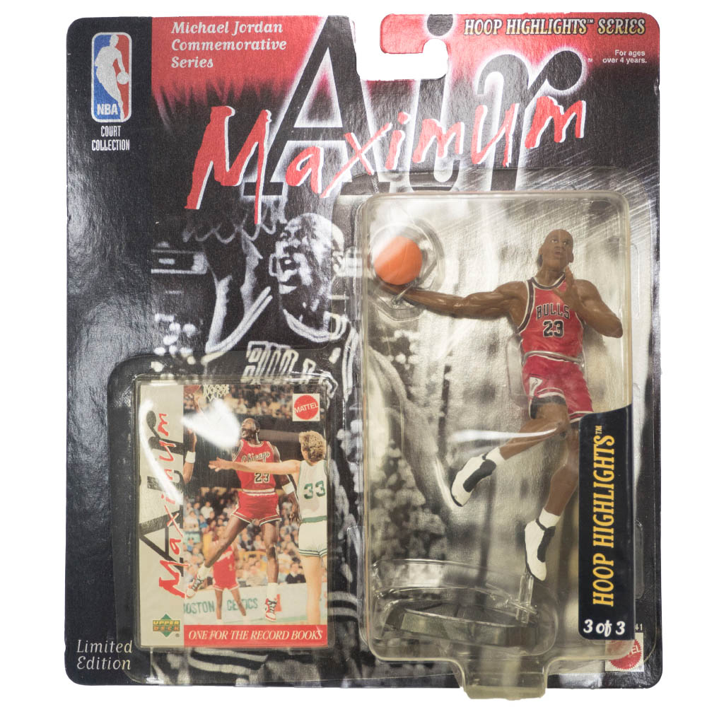 NBA マイケル・ジョーダン ブルズ フィギュア Super Stars Air Maximum Action Figure Playoff Upper Deck