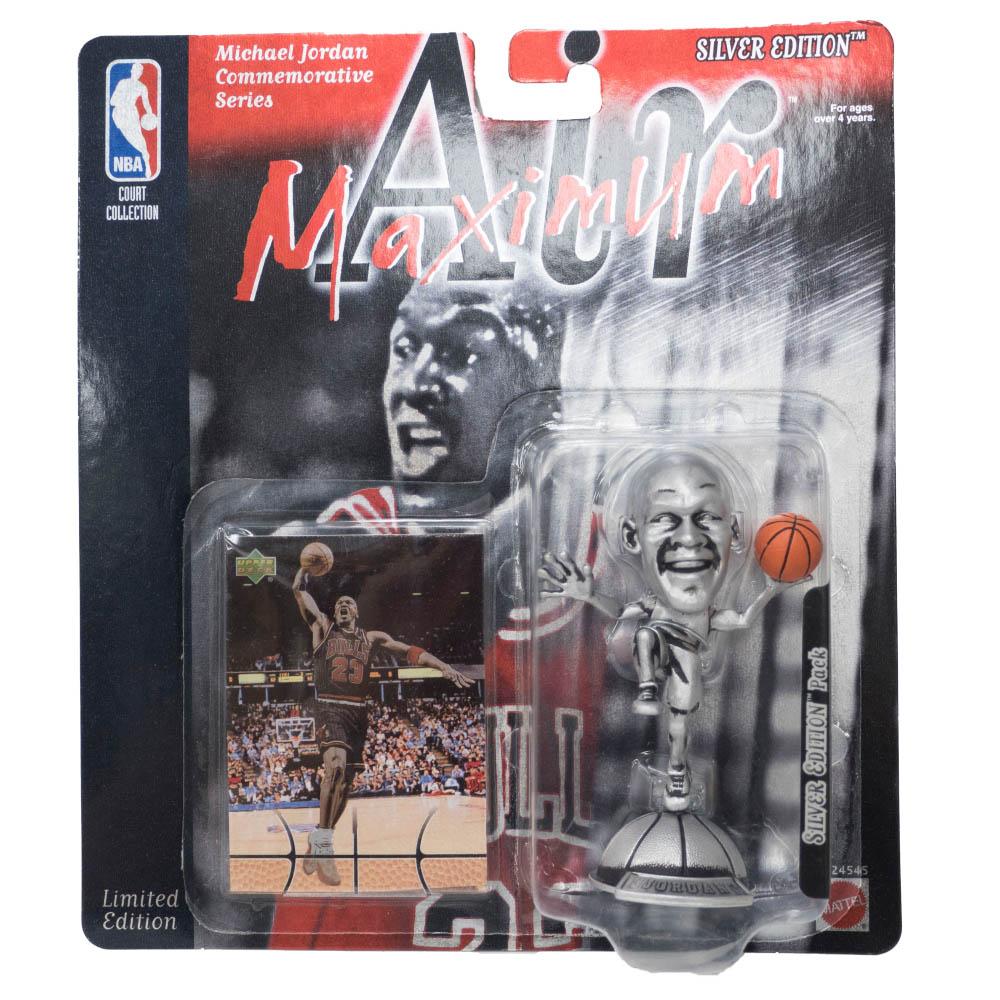 NBA マイケル・ジョーダン ブルズ フィギュア Air Maximum Silver Action Figure Upper Deck
