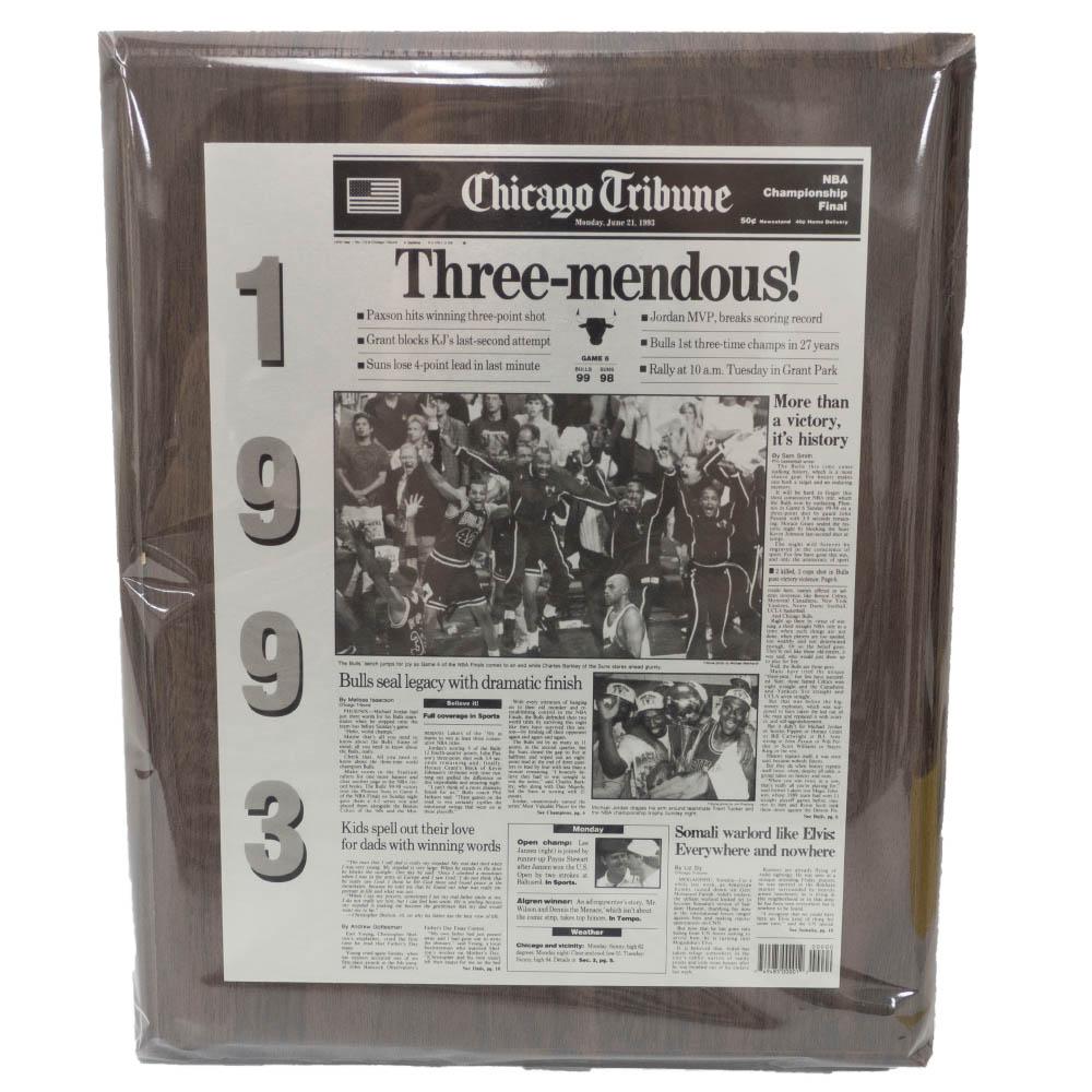 NBA ブルズ Chicago Tribune Newspaper Bulls Championship93
