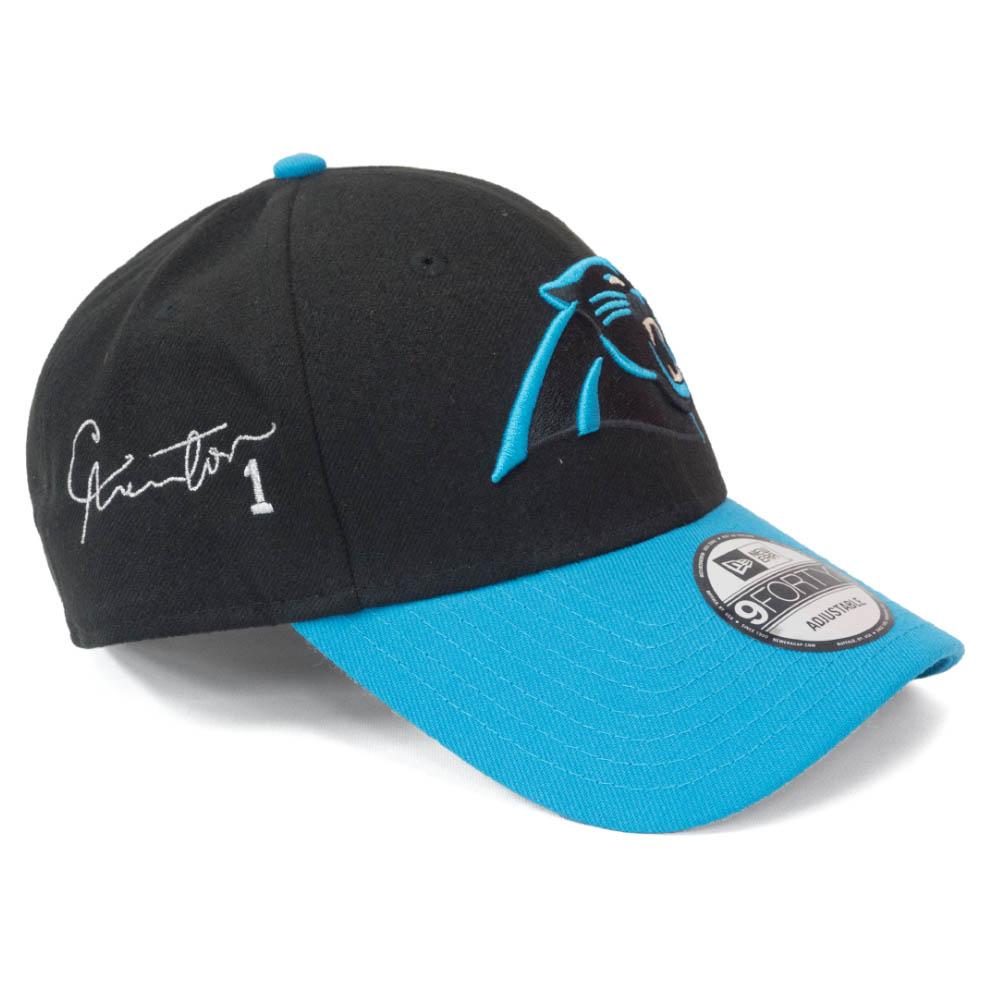 キャム・ニュートン キャップ/帽子 パンサーズ NFL 9FORTY サイン刺繍入り アジャスタブル ニューエラ/New Era ブラック ブルー